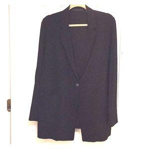 Uniqlo M black 1 button blazer, unlined